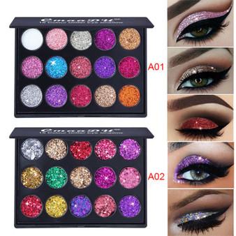 QueenLine Diamond Glitter Eyeshadow Pallete Shimmer Eye shadow Pallete Fashion Beauty Eyes MakeUp Powder Pallete Korea Cosmetics
