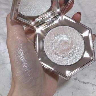 QueenLine  Facial Highlighter Bronzer Palette Makeup Glow Kit Face Body Contour Highlight Shimmer Powder Diamond Bomb Illuminator