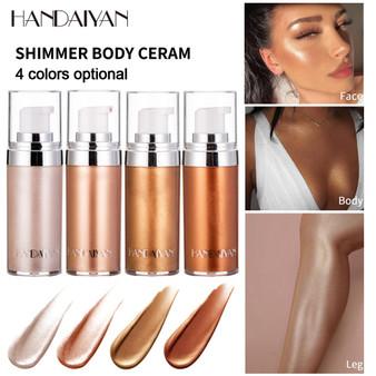 QueenLine Liquid Body Highlight Face Body Brighten Bronzers Long-lasting Illuminator Facial Shimmer Concealer Highlighter Cream