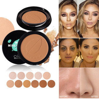 QueenLine 11 Colors Soft Translucent Compact Pressed Powder Face Contour Palette Finishing Powder Setting Makeup Bare Mineralize Cosmetic