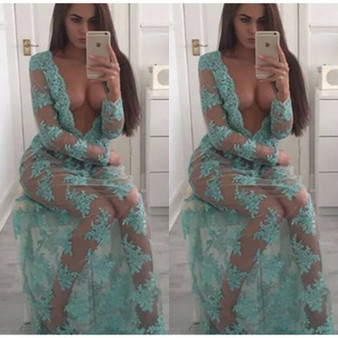 QueenLine 2020 HOT Sell Spring/Autumn Fashion Women Sexy Casual Shirt Dress Long Sleeve O- Neck Split Floral Long Maxi Dress