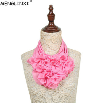 QueenLine 2018 New Solid Color Floral Collar Scarf Luxury Brand Scarf Women New Fashion Neckerchief Ring Scarves Neck Scarf For Ladies