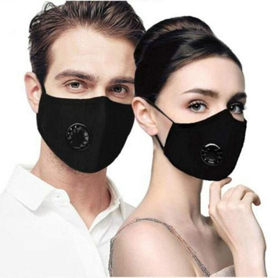 QueenLine 1pc Fashionable Dust-proof Breathable Masks Black For Univex