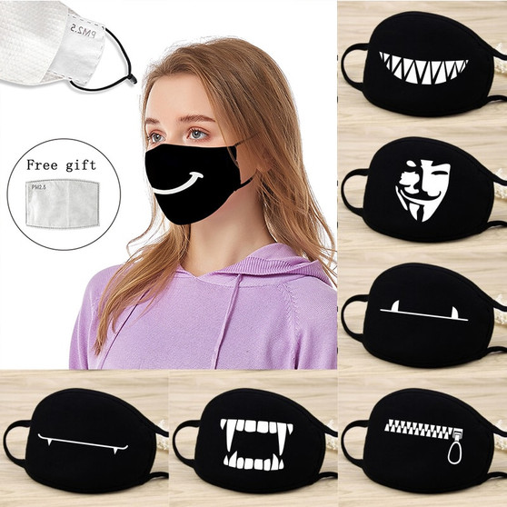 QueenLine Smile Cute Cartoon Polyester V for Vendetta Emoticons Masks Mask Cosplay Washable Bear Dustproof Keep Warm Masks Props