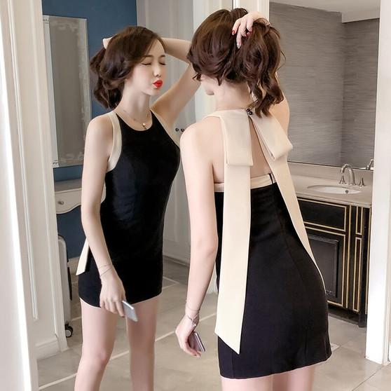 QueenLine robe femme ete 2020 fashion designer moda feminina brand summer mini dress women halter vestidos de fiesta ladies dresses bow