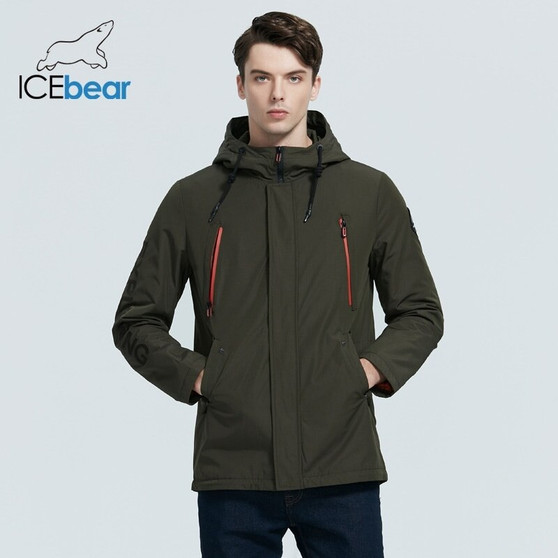 QueenLine  ICEbear 2020 New Men's Jacket Quality Men's Jacket Male Hooded Coat Casual Men Clothing MWC20823I