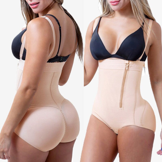 QueenLine Plus Size Hot Latex Sexy Women Body Shaper Post Liposuction Girdle Clip And Zip Bodysuit Vest Waist Shaper Reductoras Shapewear