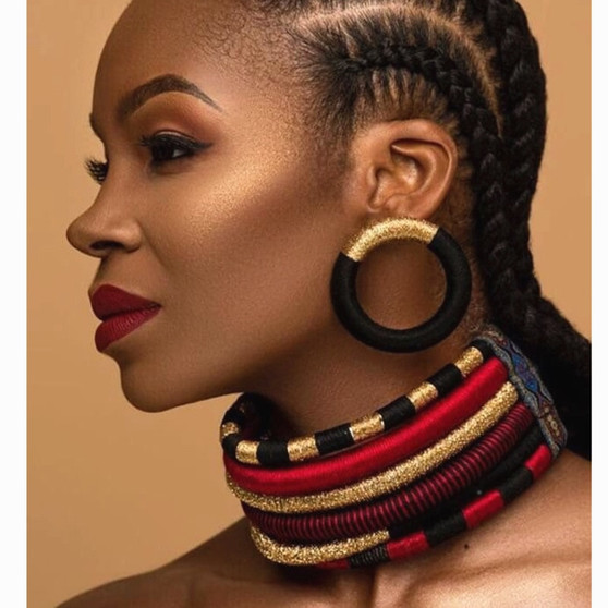 QueenLine   Brand Necklace Earrings Multi-layer Woven Jewelry Choker Necklace Bridal Wedding African Beads Jewelry Set for Women