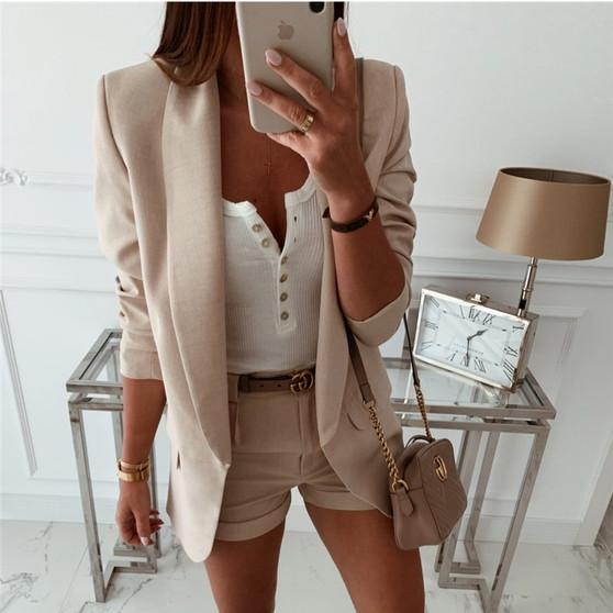 QueenLine 2019 Fashion Coat Women Autumn Winter Top Long Sleeve Office Lady Blazer Elegant vintage OL korean Blazer Streetwear