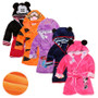 QueenLine  Cartoon Children's Robe Flannel Baby Bathrobe Long Sleeve Hooded Kids Bath Robe Lovely Animal Child Boy Girls Robes Kids Clothes