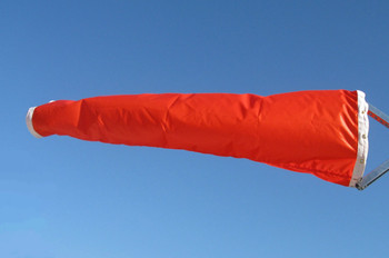 """18"""" diameter x 48"""" long vinyl windsock for commercial, industrial and aviation industries."""