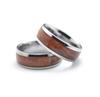 Tungsten and Koa 8mm Ring