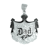 Sterling Silver Hawaiian Pendant - Coat of Arms X-Large Dad