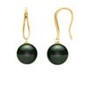 14K Tahitian Pearl Earrings Open Teardrops
