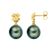 14K Tahitian Pearl Earrings XOXO