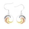 Sterling Silver Tri-Color Nalu Earrings
