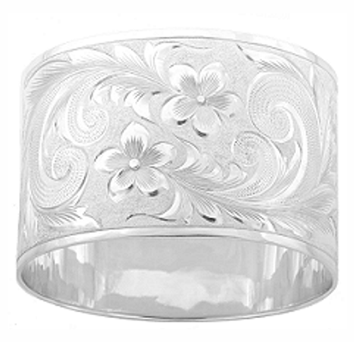 Sterling Silver 50mm Hawaiian Bracelet