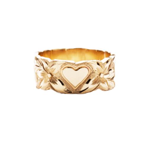 14K Hawaiian Puanani Heart Ring