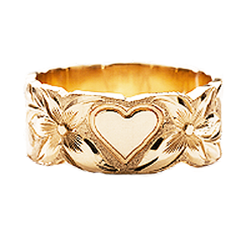 14K Hawaiian Puanani Heart Ring