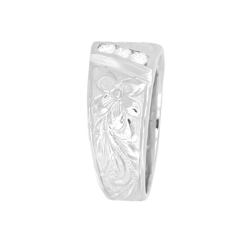 Sterling Silver Hawaiian Jubilee Ring - 8mm