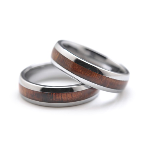 Tungsten and Koa 6mm Ring