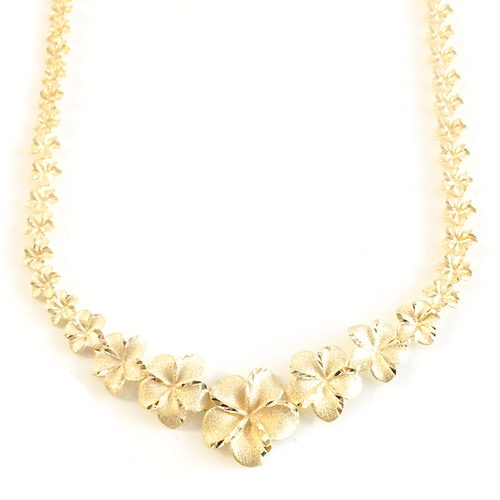 14K Plumeria Garland Necklace