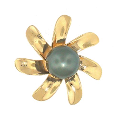 14K Tahitian Pearl Pendant - Tiare Extra Large