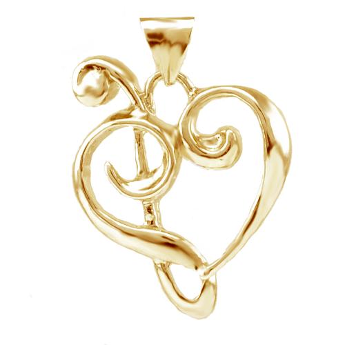 Kūpaoa Signature Heart Pendant - Lg