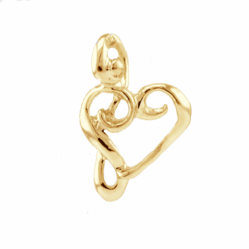 Kūpaoa Signature Heart Pendant - Sm