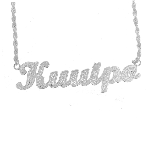 Sterling Silver Hawaiian Inoa Necklace