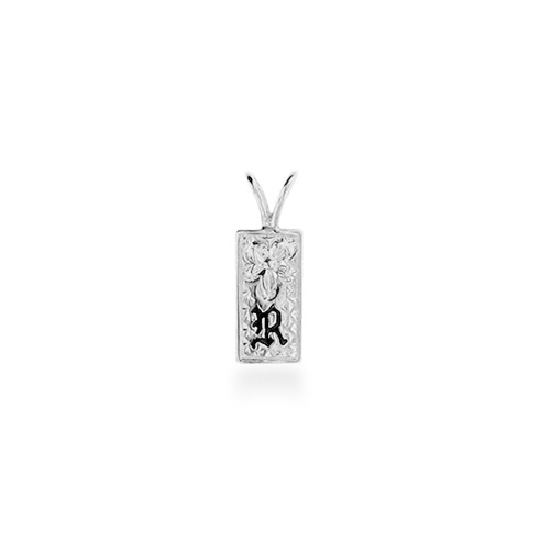 Sterling Silver Hawaiian Initial Pend - 7mm