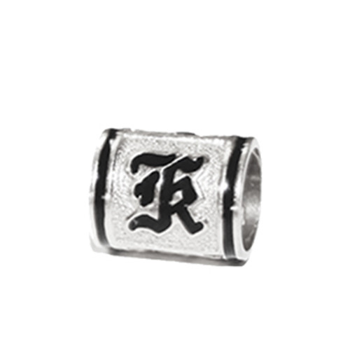 Sterling Silver Hawaiian Initial Bead