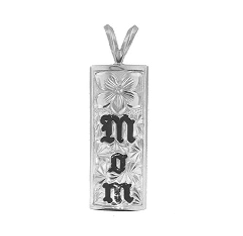Sterling Silver Hawaiian Pendant - Mom 10mm