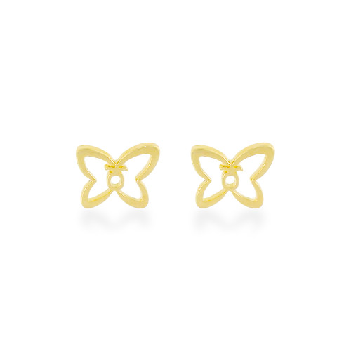 14K Pulelehua Butterfly Earrings  9mm