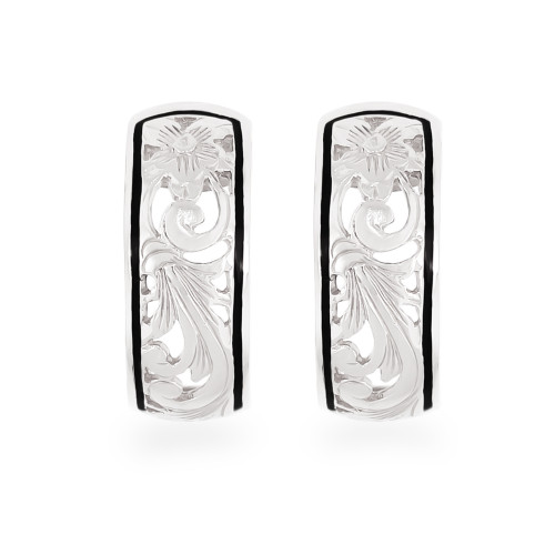 Sterling Silver Hawaiian Earrings Anuhea