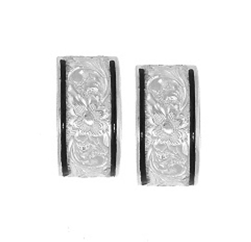 Sterling Silver Heirloom Kahea Earrings - 10mm
