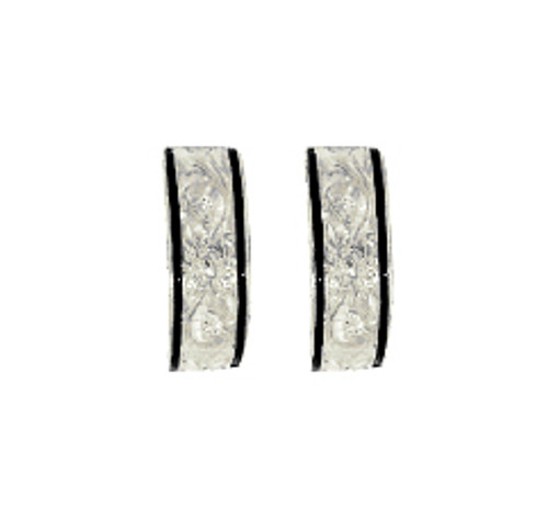 Sterling Silver Heirloom Kahea Earrings - 6mm