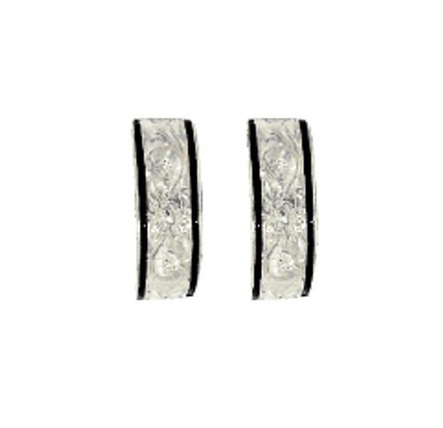 Sterling Silver Heirloom Kahea Earrings - 6mm