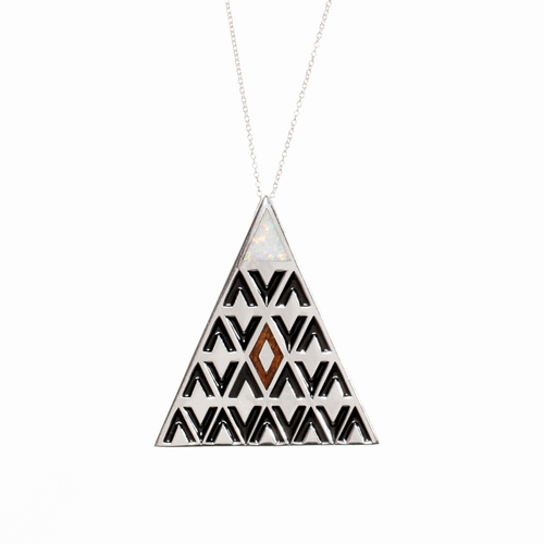 Sterling Silver 'Aina Collection Mauna Kea Pendant