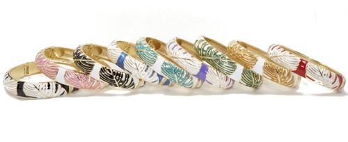 Enamel Fashion Bracelet -  Monstera Leaf