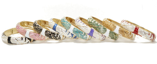 Enamel Fashion Bracelet -  Monstera Leaf