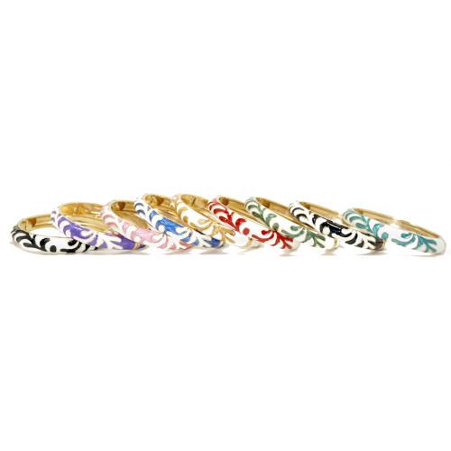 Enamel Fashion Bracelet -  Coral