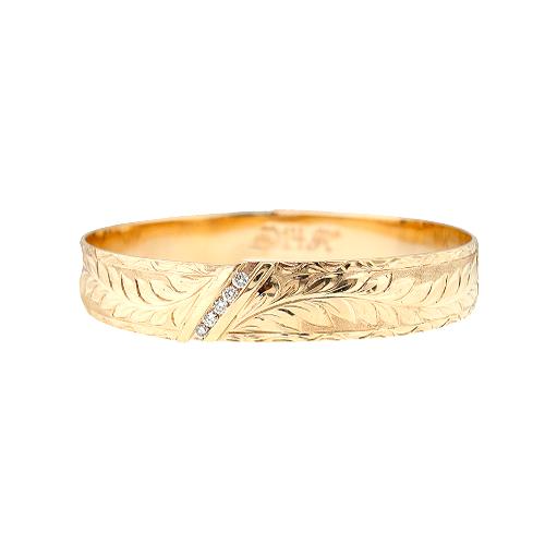 14K Hawaiian Diamond Kahiwa Bracelet (1Row)