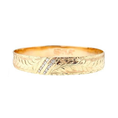 14K Hawaiian Diamond Kahiwa Bracelet (2Row)