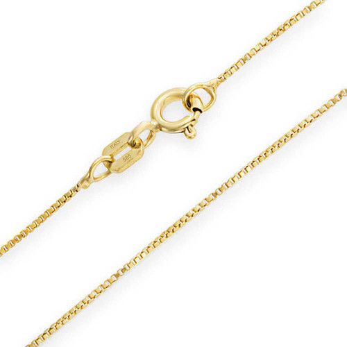 14K Mirror Box Chain