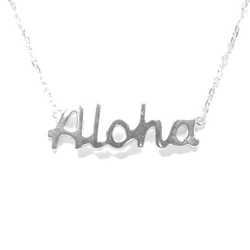 Sterling Silver Aloha Necklace