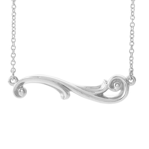 Sterling Silver Hawaiian Pūheheo Scroll Necklace