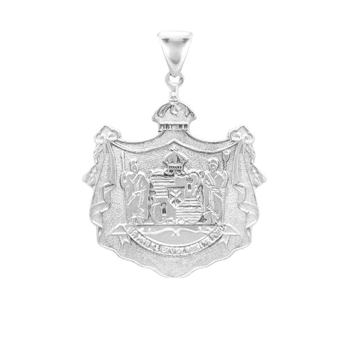 Sterling Silver Hawaiian Coat of Arms Motto Pendant