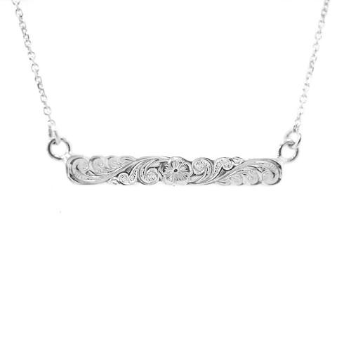 Sterling Silver Hawaiian Puanani Horizontal Pendant