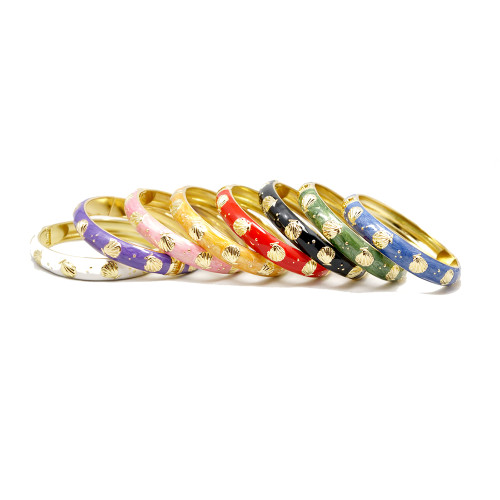 Enamel Fashion Bracelet -  Seashell